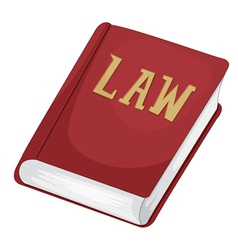 Law book vector