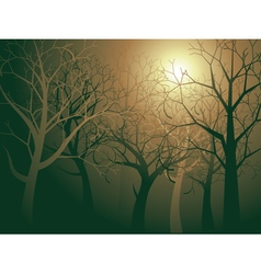 Abstract forest landscape4 vector