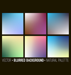 blurred abstract backgrounds collection vector image vector image