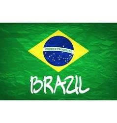 Brazil Flag An old grunge flag of Brazil state vector image
