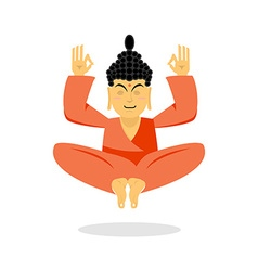 Buddha meditating Buddha on white background vector image