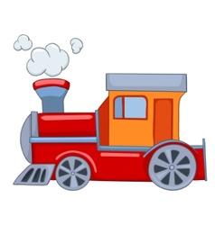 cartoon train vector image