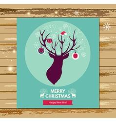 Christmas reindeer icon vector