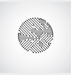 Circuit board circle digital technologies vector