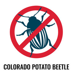 colorado potato beetle anti emblem on vector image