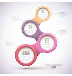 Colorful modern business circles vector