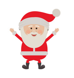 Colorful silhouette of santa claus happy vector