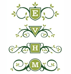 Decorative Emblem or Monogram Designs vector image vector image