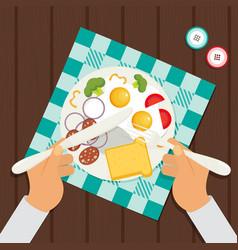 Dinner flat vector
