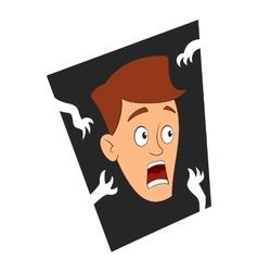 Fear of the dark icon cartoon style vector