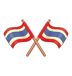 Flags of thailand icon cartoon style vector