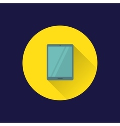 Flat tablet PC icon vector image