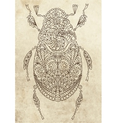 Floral bug vector