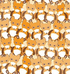 Funny cute fox seamless background pattern vector image vector image