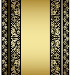 Gilded floral elements and patterns vector