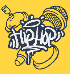 Hip hop lettering custom tag style characters with vector