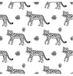 Leopard graphic animal vector