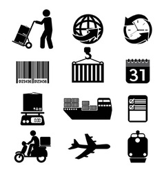 Logistics Icon Set Graphic vector image vector image