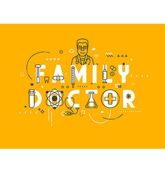 Medicine concept family vector image vector image
