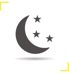 Night icon vector