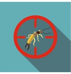 Poisonous bug icon flat style vector