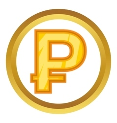 Russian ruble icon vector