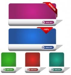 Set of sale banner vector