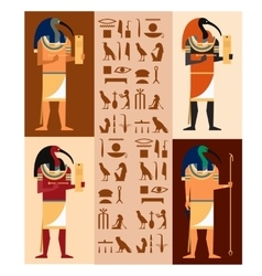 Set of Thoth vector image