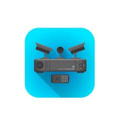 surveillance cameras recorder vector image