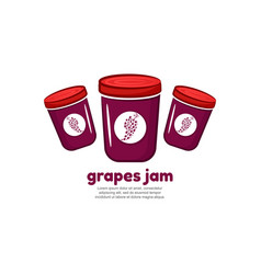 Template logo for grapes jam vector