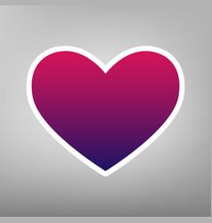 Tie sign purple gradient icon on white vector