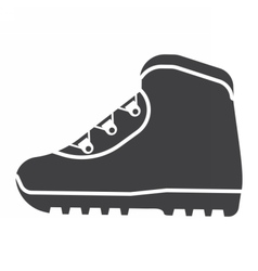 Tourist hiking boots icon vector