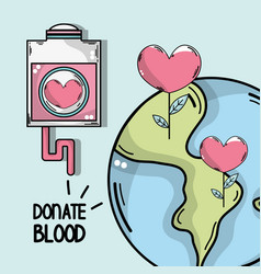 Transfusion tool to global blood donation vector