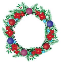 Wreath balls vector