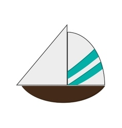 Simple sailboat icon vector
