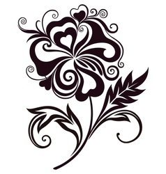 Abstract flower line-art vector