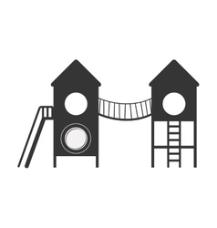 playground with bridge and stairs vector image