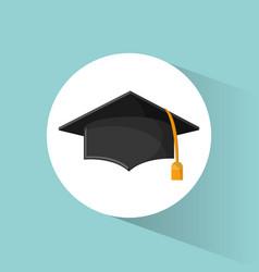 Graduation cap education symbol vector