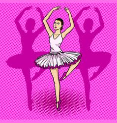 Ballet dancer pop art vector