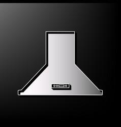 Exhaust hood kitchen ventilation sign vector