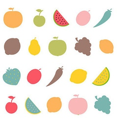 Abstract fruits vector