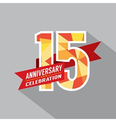 15th years anniversary celebration design vector