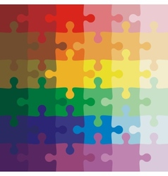 Color background jigsaw puzzle vector image
