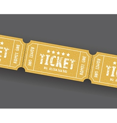 Single tickets vector