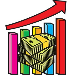 Business and finance graph vector image