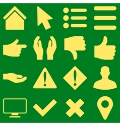 Basic gesture and sign icons vector