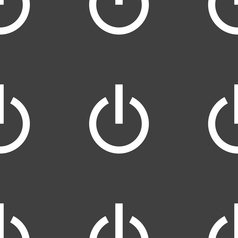 Power icon sign seamless pattern on a gray vector