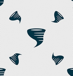 Tornado icon seamless pattern with geometric vector