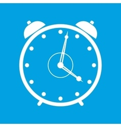 Clock white icon vector