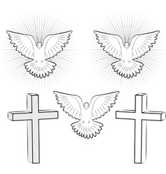 Holy ghost and cross vector
